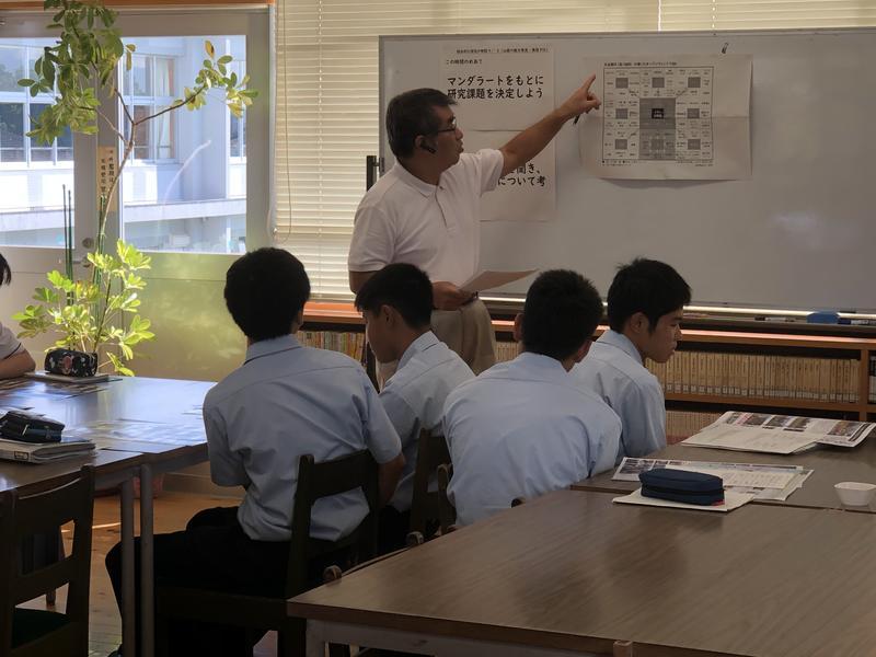 マンダラートを行うことの意義について語る山本さん