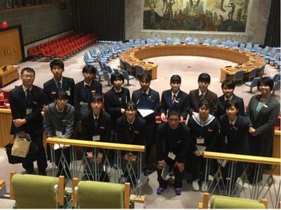 ④国連安全保障理事会会議場にて