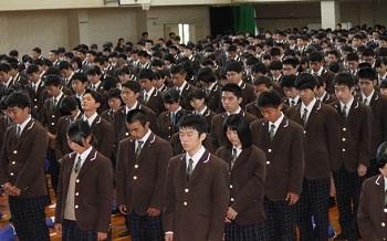 熊本地震全校集会1