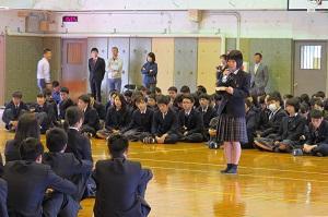 生徒会長歓迎の言葉